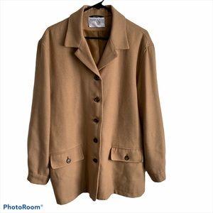 Vtg Intl Scene camel tan wool line car coat jacket